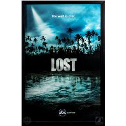 """LOST Framed Season Four """"The Wait is Over"""" Poster"""