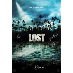 """LOST Season Four """"The Wait is Over"""" Poster Signed by 7 Writers/Producers"""