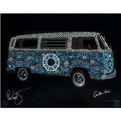 "LOST ARG Limited Edition ""The Dharma Van"" Art Print Signed by Carlton Cuse & Damon Lindelof"
