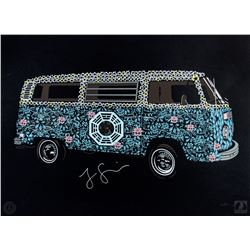"""LOST ARG Limited Edition """"The Dharma Van"""" Art Print Signed by Jorge Garcia"""