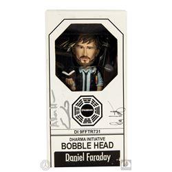 LOST Daniel Faraday Bobblehead Signed by Adam Horowitz, Eddy Kitsis & Damon Lindelof