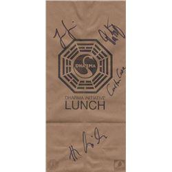 LOST Dharma Initiative Lunch Bag Signed by Cuse, Cusick, Garcia & Lindelof