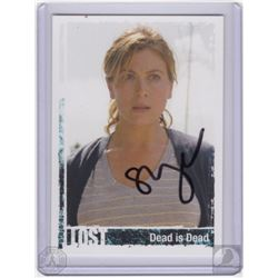 """LOST """"Dead is Dead"""" Penny Trading Card Signed by Sonya Walger"""