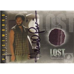 LOST Michael Collectible Costume Card Signed by Harold Perrineau