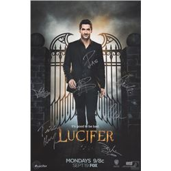 Lucifer San Diego Comic Con 2016 Poster Signed by 5 Cast Members & 2 Producers