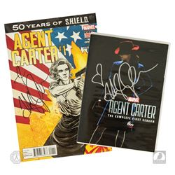 Marvel's Agent Carter Season 1 DVD & Agent Carter #1 Comic Book, Both Signed by Hayley Atwell