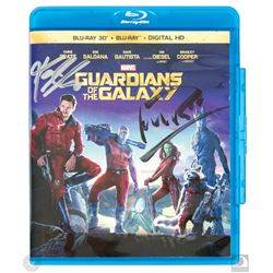 Marvel Guardians of the Galaxy Blu-ray Signed by Michael Rooker and Karen Gillan