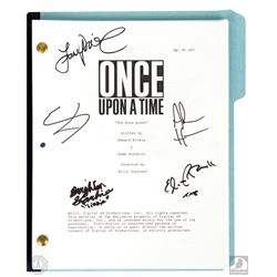 """Once Upon a Time """"The Snow Queen"""" Script Signed by 3 Cast Members and Adam Horowitz & Eddy Kitsis"""