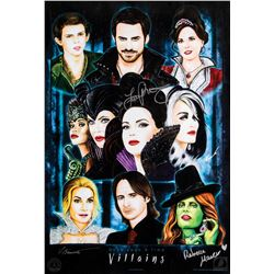 Once Upon a Time Villains Poster Signed by Rebecca Mader and Lana Parrilla