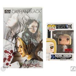 Orphan Black Funko Pop! Rachel Figure with Pencil-in-Eye Figure & Comic Book
