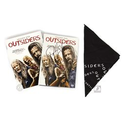 Outsiders Season One 4-Disc DVD Set Signed by Ryan Hurst & Outsiders Bandana