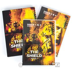 The Shield Season One 4-Disc DVD Set Signed by Glen Mazzara, Shawn Ryan, Kurt Sutter & Kenny Johnson