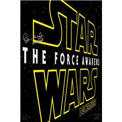 Star Wars Celebration 2015 Limited Edition The Force Awakens Poster Signed by Peter Mayhew
