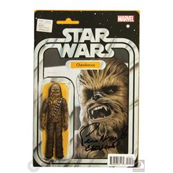 Star Wars Marvel Chewbacca Action Figure Cover Comic Book Signed by Peter Mayhew