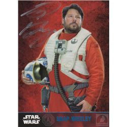 Star Wars: The Force Awakens Snap Wexley Trading Card Signed by Greg Grunberg