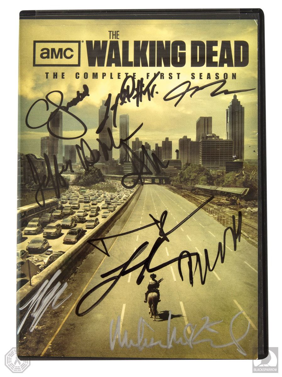 The Walking Dead Complete First Season 2 Disc Dvd Set Signed By 10 Cast Members