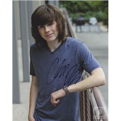 The Walking Dead Carl Photo Signed by Chandler Riggs