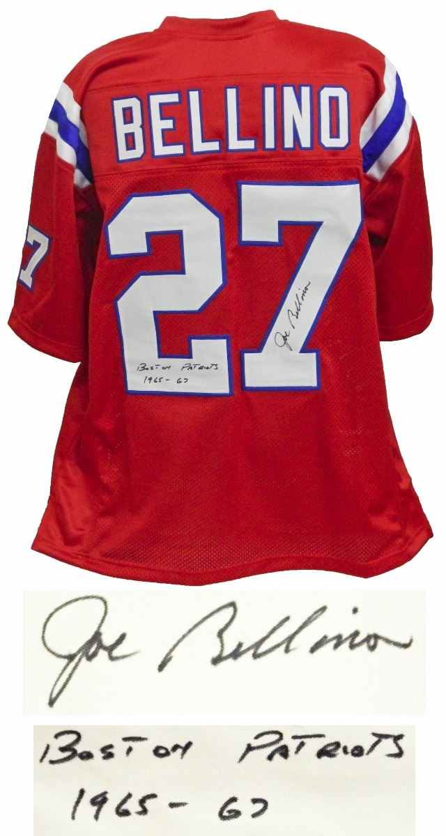 best sneakers ae5c4 b4da2 Joe Bellino Signed Red Throwback Custom Football Jersey W/Boston Patriots  1965-67