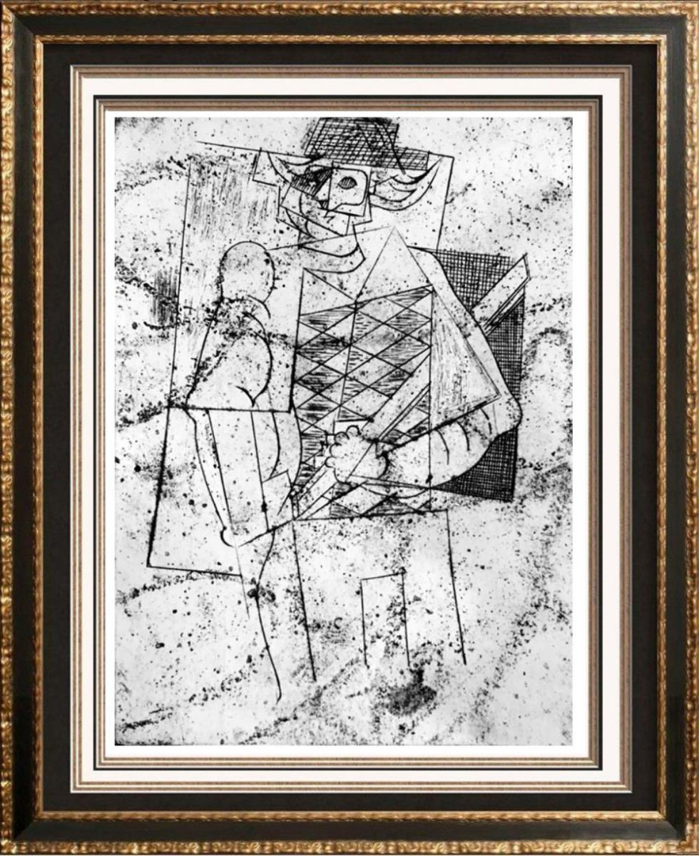 Pablo Picasso After Harlequin C 1917 Fine Art Print From Museum Artist