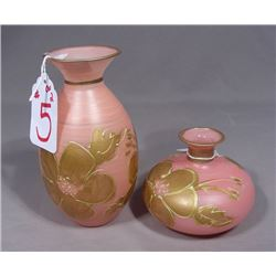 TWO ITALIAN HAND PAINTED VASES