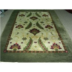 MODERN HAND KNOTTED NEPALI AREA RUG