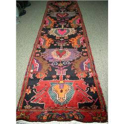 HAND KNOTTED VINTAGE HAMADAN RUNNER
