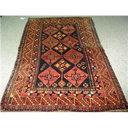 HAND KNOTTED PERSIAN SHIRAZ AREA RUG