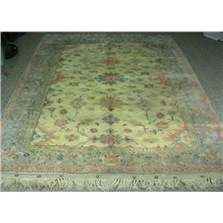 VINTAGE HAND KNOTTED TURKISH OUSHAK AREA RUG