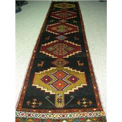 VINTAGE HAND KNOTTED HAMADAN RUNNER