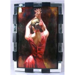 ORIGINAL OIL ON CANVAS:  DANCING WOMAN