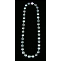 LADIES 14K WHITE GOLD, TAHITIAN PEARL NECKLACE
