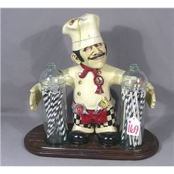 HUMOROUS COMPOSITION CHEF PASTA HOLDER