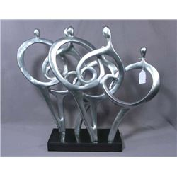 HEAVY MODERN COMPOSITION ABSTRACT  SCULPTURE OF FAMILY