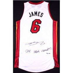 detailed look 3b93e 34110 LeBron James Signed LE Heat Adidas Authentic On-Court ...