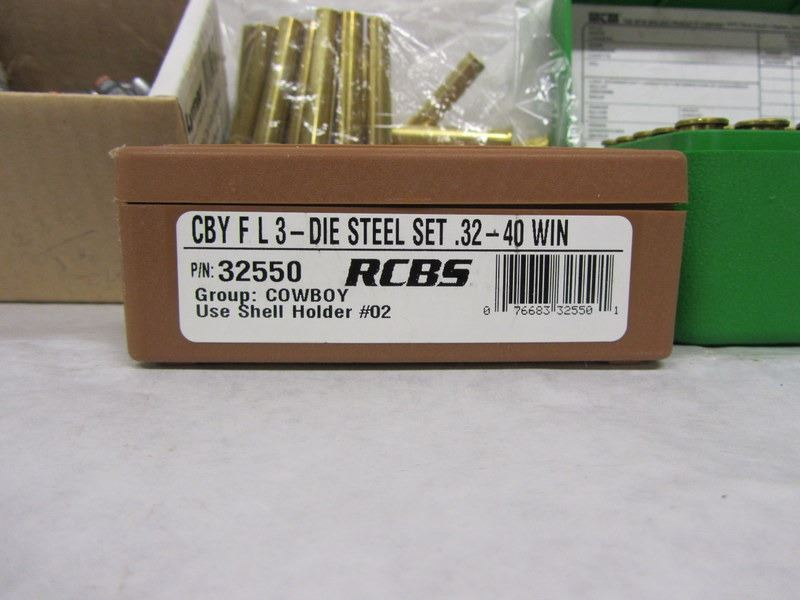 DIES, BRASS, AND PROJECTILES FOR RELOADING 32-40 WIN