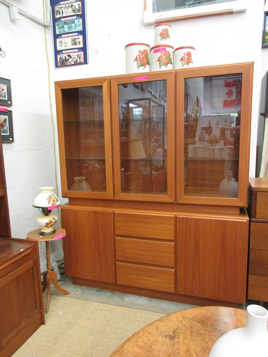 Picture of: Mid Century Modern Teak China Cabinet