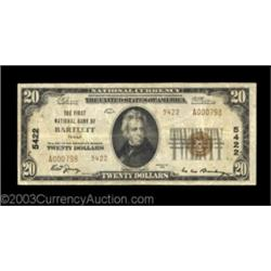 Bartlett, TX - $20 1929 Ty  2 First NB Ch  # 5422A very scarce