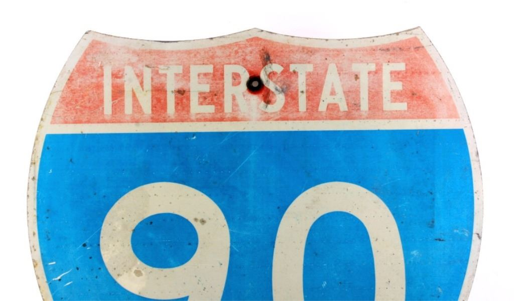 I-90 Interstate 90 Highway Sign from Montana
