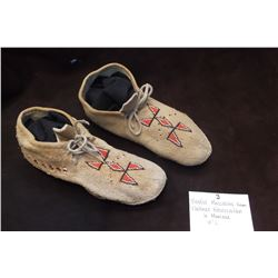 "Beaded Moccasins from Flathead Reservation in Montana- 10""L"