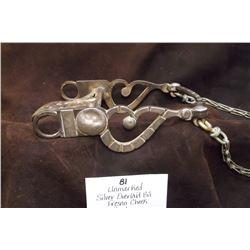 Unmarked Silver Overlaid Bit- Fresno Cheek- Spade- Rein Chains