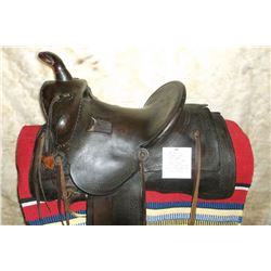 """Al Furstnow Miles City, MT. #400 Saddle- 13"""" Seat- Tooled- Square Skirts- Saddle Strings Have Been R"""