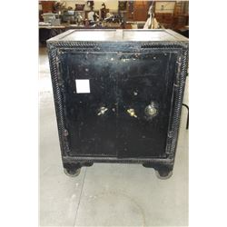 """Old Safe With Combination- Works- Double Doors Inside and Out- On Wheels- 36""""W X 29""""D X 45""""H"""
