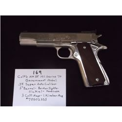 Colt's MK IV 1911 Series 70- Government Model- .38 Super Auto Caliber
