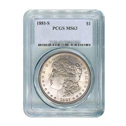 1881-S $1 Morgan Silver Dollar - PCGS MS63