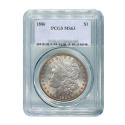 1886 $1 Morgan Silver Dollar - PCGS MS63