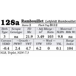 Lot 128a - Rambouillet