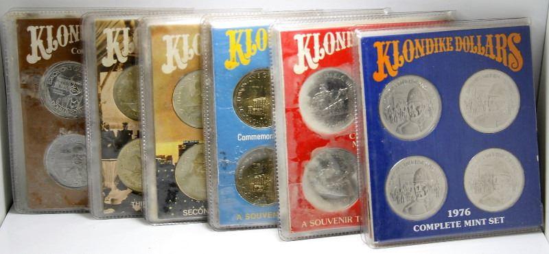 6 Canadian Klondike Dollar 4 Coin Sets - 1976 - 1981