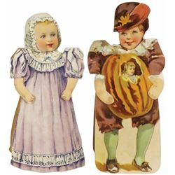 Two Gum Die Cut Paper Trade Cards