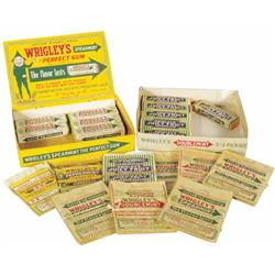 Wrigley's Chewing Gum Display Boxes & Wrappers