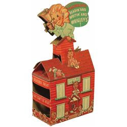 Wrigley's Die Cut Carboard Little Red Schoolhouse